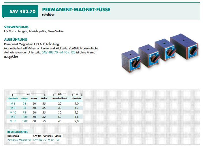 SAV 482.70 magneetvoet
